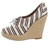 Tabitha Simmons Striped Espadrille Wedges