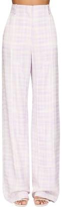 Jacquemus Printed Wide Leg Gabardine Pants