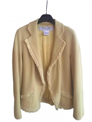 Christian Dior Yellow Wool Jacket for Women Vintage