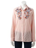 SONOMA Goods for Life Women's SONOMA Goods for LifeTM Embroidered Pinstripe Shirt