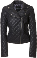 Aeropostale Quilted Faux Leather Moto Jacket