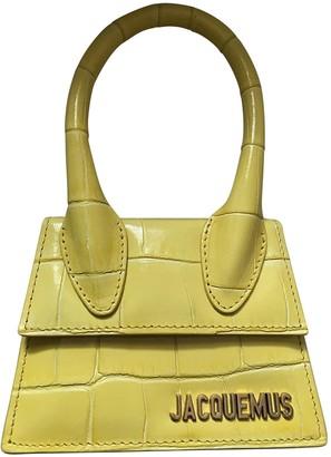 Jacquemus Chiquito Yellow Leather Handbags
