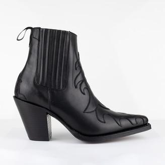 Tony Mora - Western Ankle Boot - 36 | black | leather - Black/Black