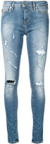 Love Moschino distressed skinny jeans - women - Cotton/Spandex/Elastane - 28