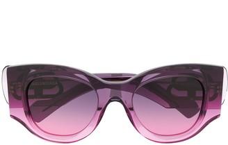 Balenciaga Eyewear Paris cat eye-frame sunglasses