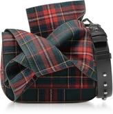 N°21 Tartan Fabric Bow Mini Shoulder Bag