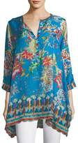 Johnny Was Mala Printed Georgette Blouse, Petite