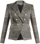 Balmain Double-breasted hound's-tooth check blazer