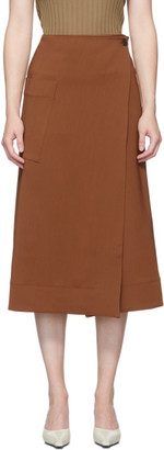 Studio Nicholson Brown Bude Wrap Skirt