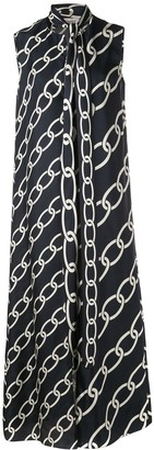 Monse Chain Print Kaftan Top