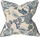 Barclay Butera Floral 22x22 Cotton-Blend Pillow, Blue