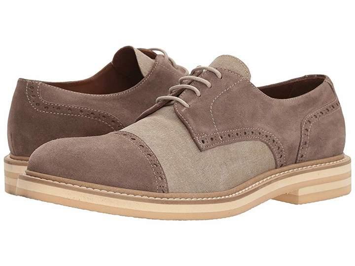 Eleventy Suede/Canvas Brogue Men's Shoes
