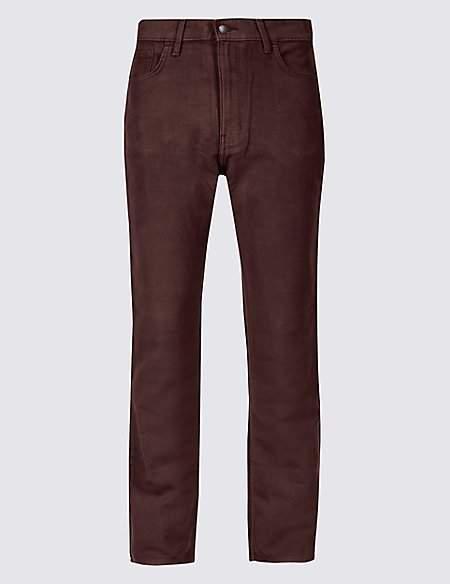 M&S Collection Regular Fit Pure Cotton Italian Moleskin Trousers