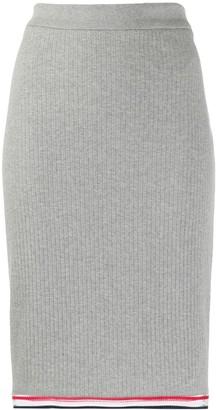 Thom Browne Ribbed High-Waisted Skirt