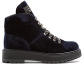 Prada Lace-up velvet après-ski boots
