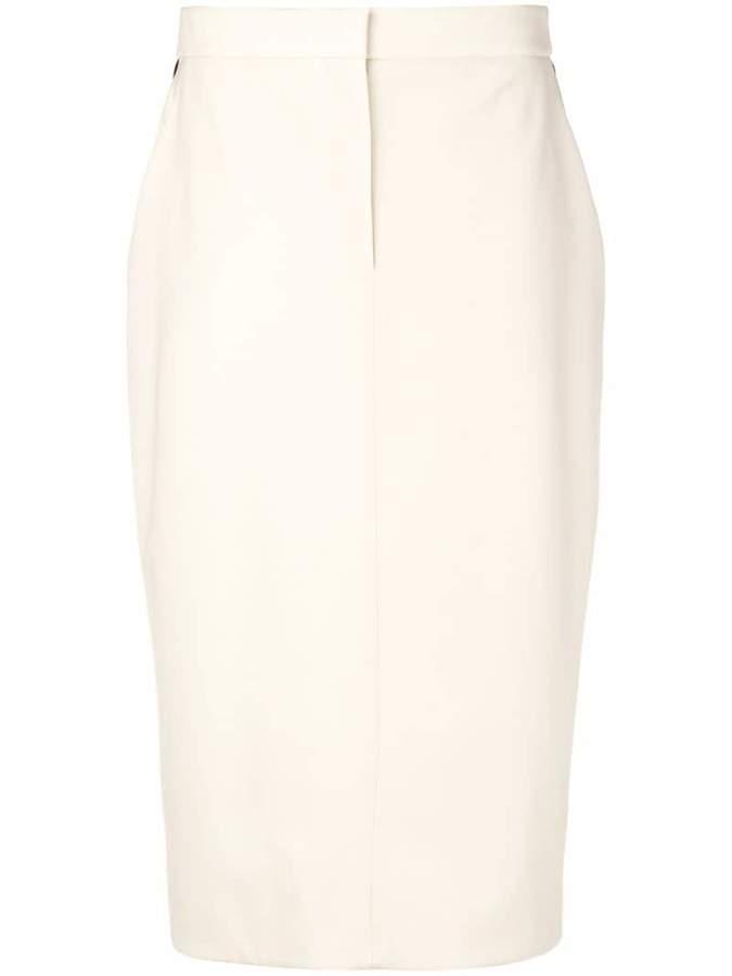 Calvin Klein side stripe pencil skirt