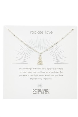 Dogeared Sterling Silver Radiate Love Peaceful Buddha Pendant Necklace