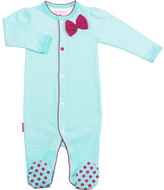 Kushies Aqua I Love Spring Front Snap Sleeper - Infant