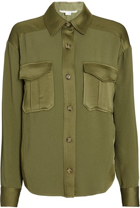 Veronica Beard Ainsley Cargo Button-Down Shirt