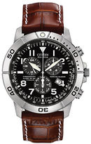 Citizen Perpetual Calendar Chronograph, Eco-Drive Titanium and Leather Watch
