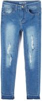 KensieGirl Medium Blue Distressed Denim Jeans - Girls