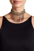 Stephan & Co Rhinestone & Chain Fringe Statement Necklace