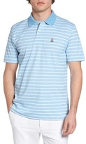 Psycho Bunny Men's Golf Striped Polo
