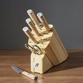 Crate & Barrel ZWILLING ® J.A. Henckels Miyabi Birchwood 7-Piece Knife Block Set