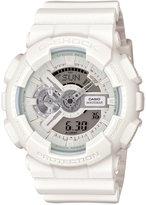 G-Shock Men's Analog-Digital Whiteout White Strap Watch 55x51mm GA110BC-7AS