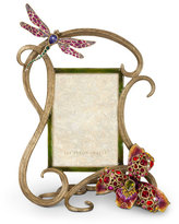 """Jay Strongwater Thelma Lily & Dragonfly 5"""" x 7"""" Frame"""