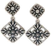 American West Sterling Diamond Shape DangleEarrings