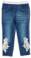 Flapdoodles Girls 2-6x Crocheted Jeggings