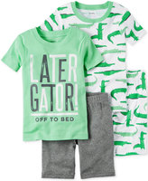 Carter's 4-Pc. Later Gator Cotton Pajama Set, Baby Boys (0-24 months)
