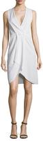 Giorgio Armani Front Button Wrap Dress