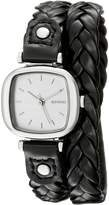 Komono Women's KOM-W1231 Moneypenny Woven Series Analog Display Japanese Quartz Black Watch