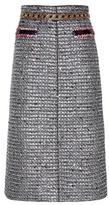 Marc Jacobs Embellished Metallic Skirt