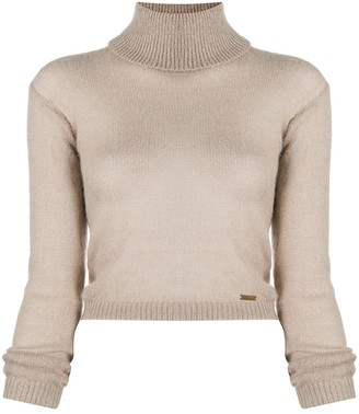 DSQUARED2 Roll Neck Cropped Jumper