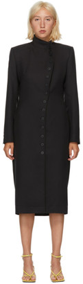Situationist Black Wool Asymmetric Blazer Dress