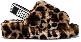 UGG Fluff Yeah Leopard Slide