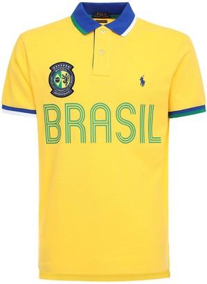 Polo Ralph Lauren Brasil Custom Fit Cotton Pique Polo