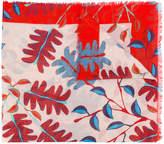 Marc Cain leaf print scarf