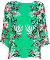 Wallis Tropical Mirror Floral Top