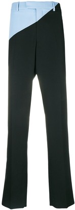 Calvin Klein bicolour straight leg trousers