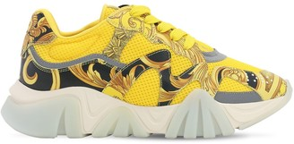 Versace 40mm Squalo Faux Leather & Mesh Sneakers
