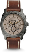 Fossil Machine Chronograph Brown Leather Watch