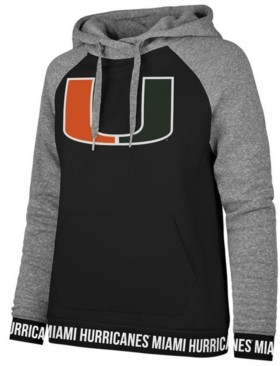 '47 Women's Miami Hurricanes Encore Revolve Hooded Sweatshirt