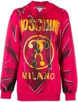 Moschino trompe-l'œil logo hoodie