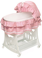 Badger Basket Waffle Ruffled Bassinet with Toy Box Base