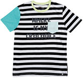 Sorry 4 the Mess SORRY 4 THE MESS STRIPED COTTON JERSEY T-SHIRT