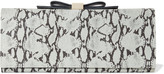 See by Chloe Nora snake-effect leather clutch